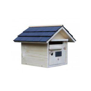 boite aux lettres bois achat vente boite aux lettres bois pas cher les soldes sur. Black Bedroom Furniture Sets. Home Design Ideas