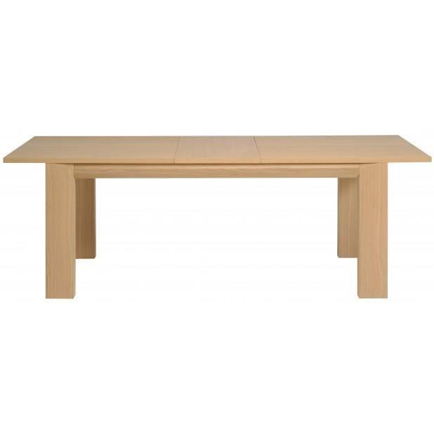 Bridge table en 280 couleur ch ne brut achat vente for Table en chene brut