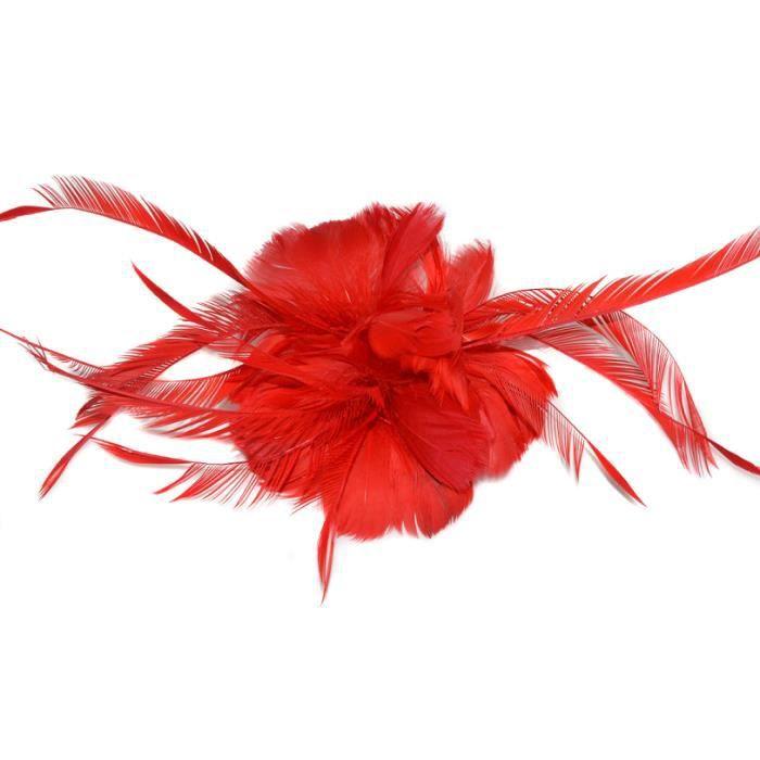 1 pince fleur rouge pour un mariage ou une soir e achat vente barrette chouchou 1 pince - Un ou une petale ...