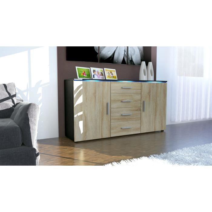 enfilade bois brut achat vente enfilade bois brut pas cher les soldes sur cdiscount. Black Bedroom Furniture Sets. Home Design Ideas