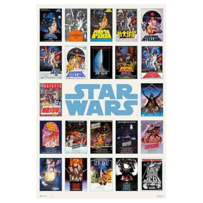 maxi poster star wars one sheet collage achat vente affiche cdiscount. Black Bedroom Furniture Sets. Home Design Ideas
