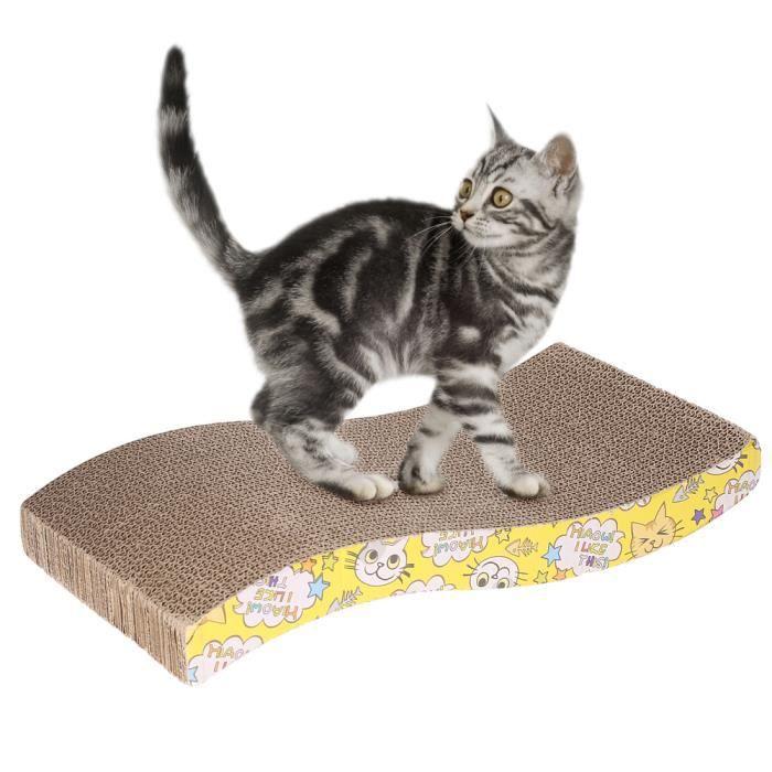 griffoir carton ondul forme de s pour chat jouet avec cataire style al atoire achat vente. Black Bedroom Furniture Sets. Home Design Ideas