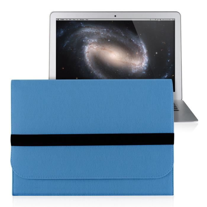 kwmobile 174 housse de protection pour apple macbook air 13 quot fait de durable sentir avec des poches