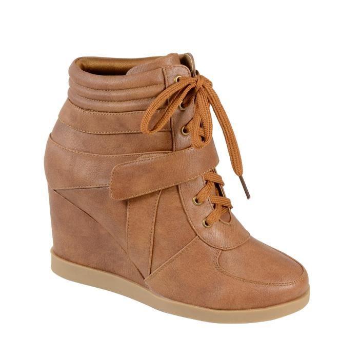baskets es tdf617 camel femme marron achat vente baskets tdf617 femme pas cher. Black Bedroom Furniture Sets. Home Design Ideas