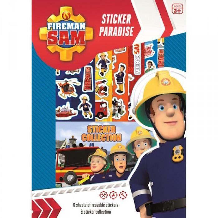 set sticker paradise sam le pompier achat vente livre de coloriage soldes cdiscount. Black Bedroom Furniture Sets. Home Design Ideas