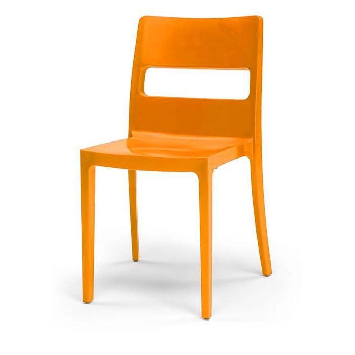 Chaise design orange simply lot de 6 achat vente for Lot de 6 chaises design