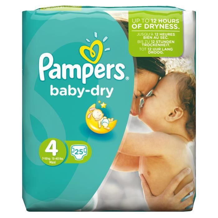 pampers baby dry taille 4 maxi 7 18 kg couches paquet. Black Bedroom Furniture Sets. Home Design Ideas