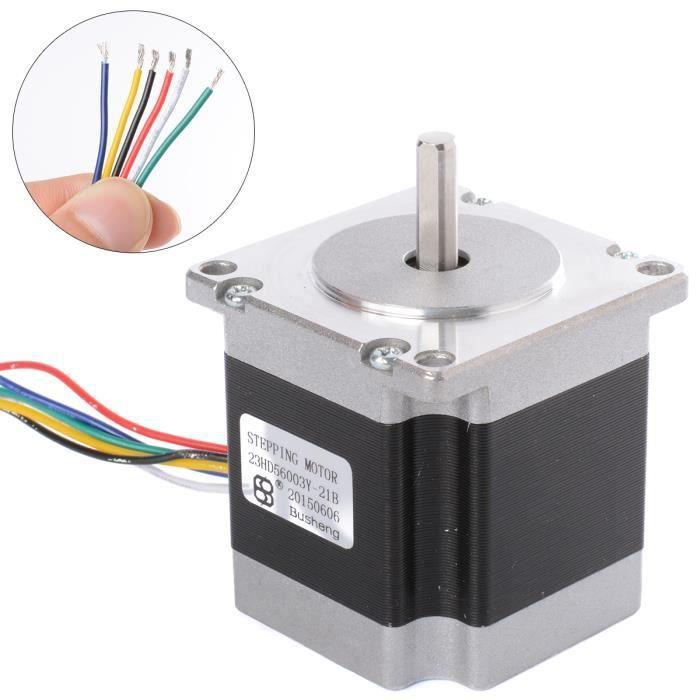 xcsource arduino 57mm 2 phase 6 fils moteur pas pas pour le bricolage robot cnc routeur reprap. Black Bedroom Furniture Sets. Home Design Ideas