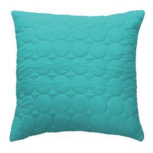 Housse de coussin 60 x 60 cm turquoise achat vente housse de coussin 60 x 60 cm turquoise for Boutis turquoise