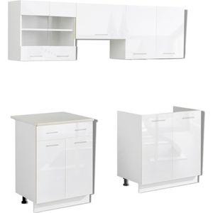 Meuble de cuisine blanc achat vente meuble de cuisine for Meuble cuisine modulable