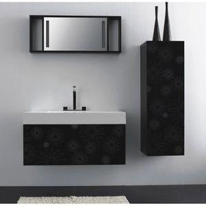Meuble salle de bain noir et blanc achat vente meuble - Soldes meubles de salle de bain ...