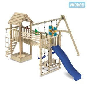 aire de jeux portique wickey hillbillys farm achat. Black Bedroom Furniture Sets. Home Design Ideas