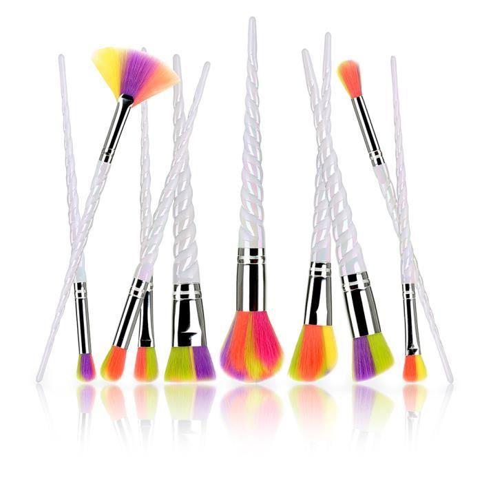 10 couleurs pinceau brosse de maquillage d grad de couleur tari re achat vente pinceaux de. Black Bedroom Furniture Sets. Home Design Ideas