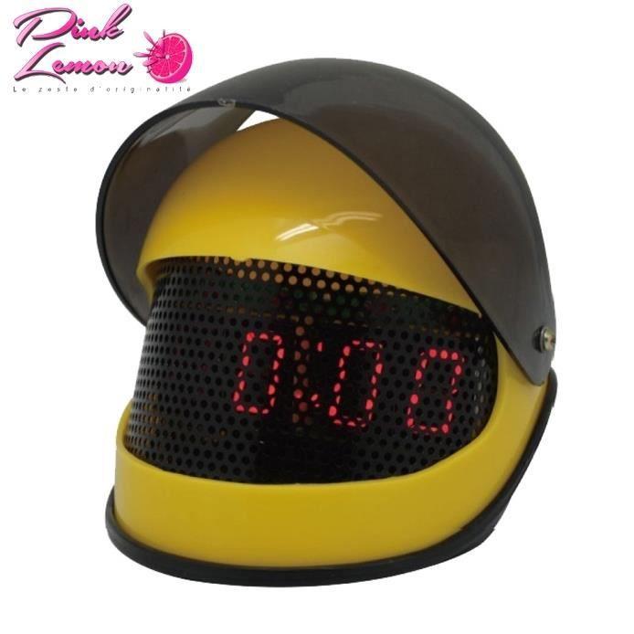 r veil casque moto jaune cadeau motard jaune rouge achat vente radio r veil cadeaux de. Black Bedroom Furniture Sets. Home Design Ideas