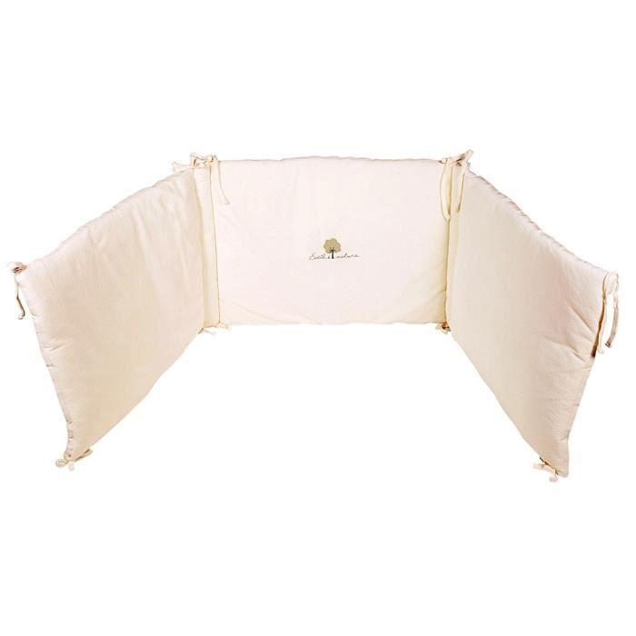 tour de lit biologique ecru achat vente tour de lit b b 3700672601433 les soldes sur. Black Bedroom Furniture Sets. Home Design Ideas