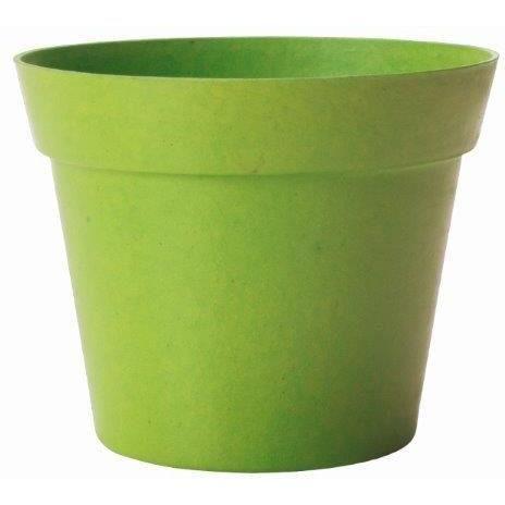 Pot d co vert en bambou et r sine 19x17cm achat vente for Pots en resine jardin
