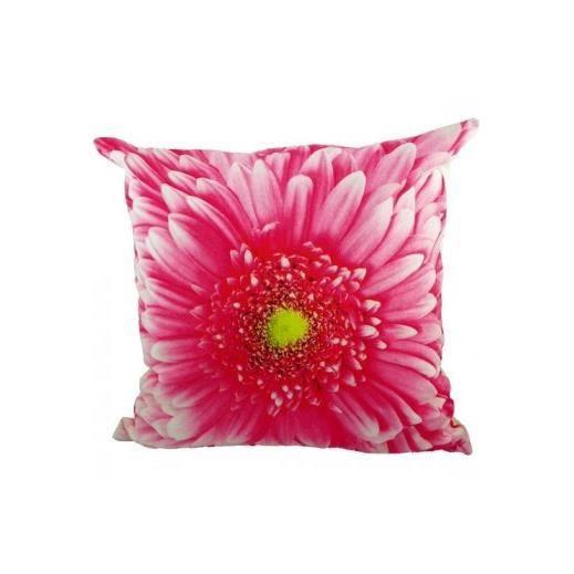 coussin fleur rose 50x50 cm achat vente coussin cdiscount. Black Bedroom Furniture Sets. Home Design Ideas