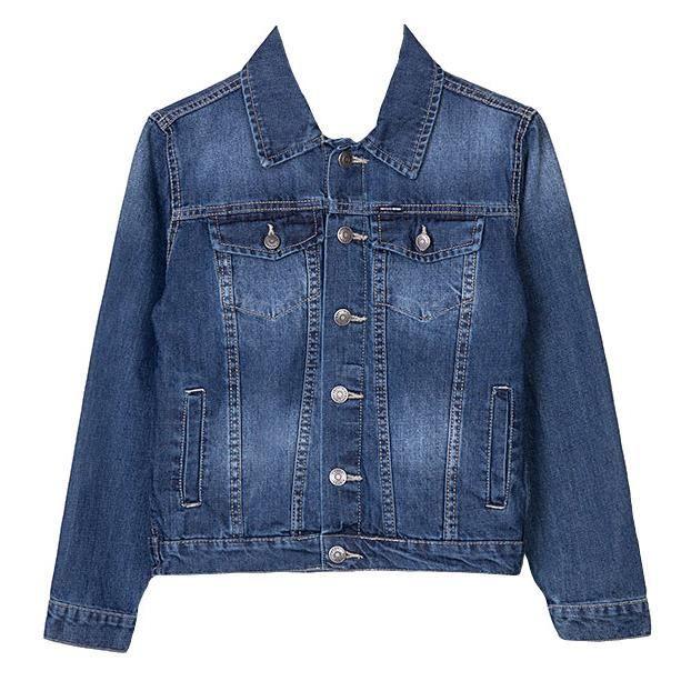 veste en jeans tiffosi pour enfant gar on stretch bleu. Black Bedroom Furniture Sets. Home Design Ideas