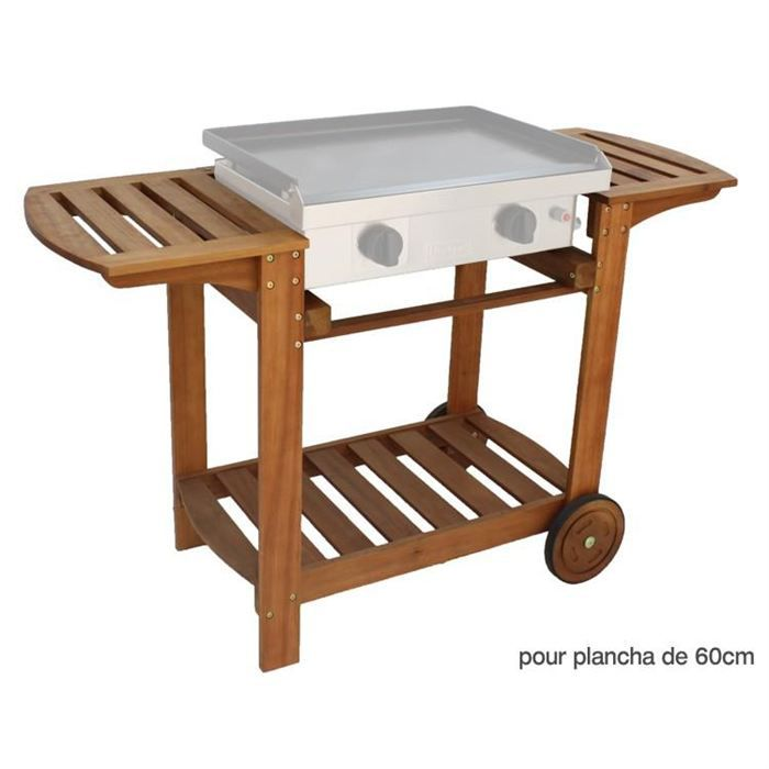 chariot bois pour plancha 60 cm achat vente desserte