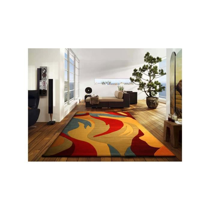 Cow miauw multicolor 160x230 tapis moderne achat vente tapis cdiscount - Tapis discount moderne ...