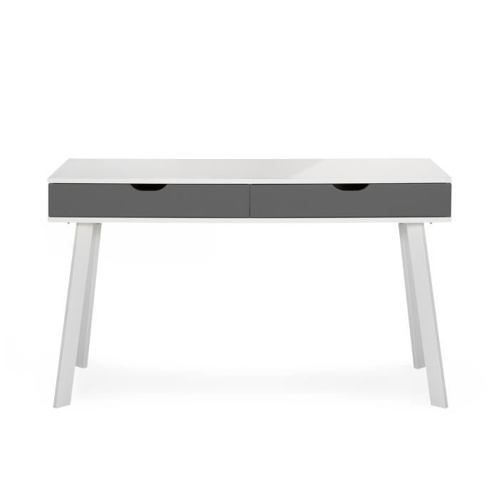 aquila bureau style scandinave tiroirs gris taupe taupe achat vente bureau aquila bureau. Black Bedroom Furniture Sets. Home Design Ideas