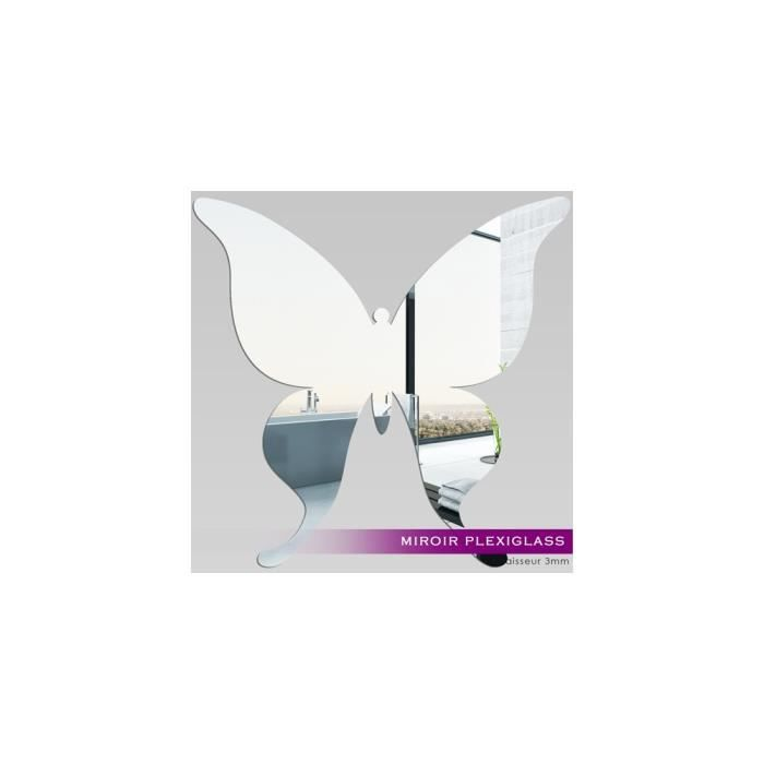 Miroir plexiglass acrylique papillon 2 ref mir 024 for Miroir qui s ouvre