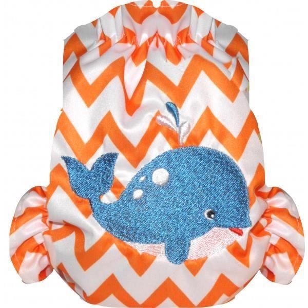 Maillot de bain couche taille unique orange achat for Bebe couche piscine