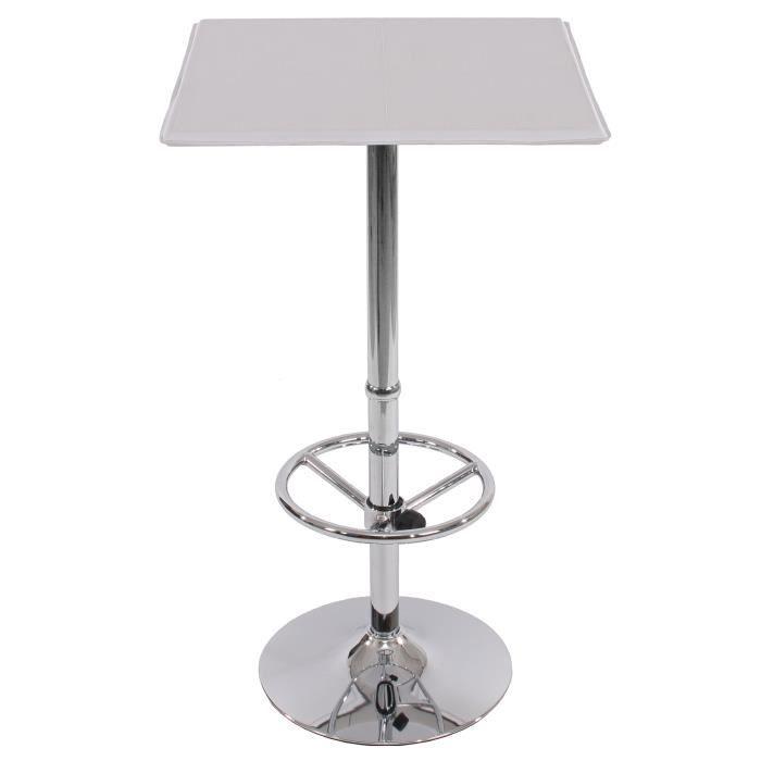 table haute de bar bistrot avec repose pied 110 cm achat vente table de cuisine table haute. Black Bedroom Furniture Sets. Home Design Ideas