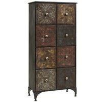 Meuble de rangement 8 tiroirs en m tal vieilli achat for Petit meuble de rangement 3 tiroirs