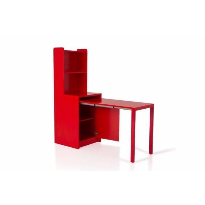 Meuble kolto transformable en console extensible rouge - Meuble console extensible ...