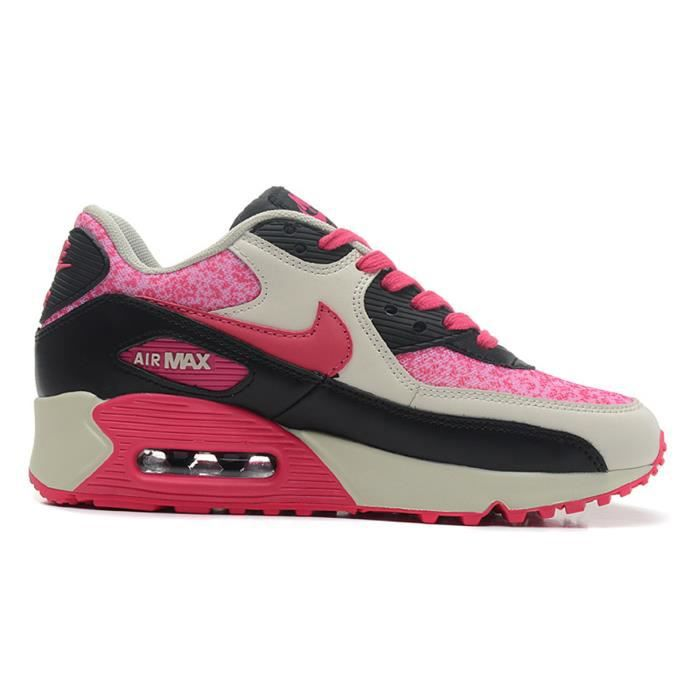 nike air max 90 youth gs chaussures noir argent