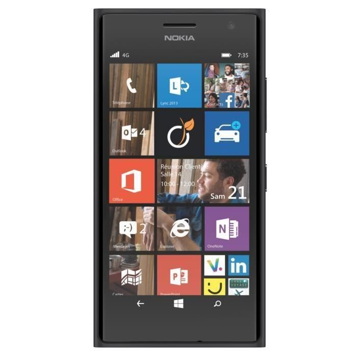 nokia lumia 735 noir reconditionne a neuf achat. Black Bedroom Furniture Sets. Home Design Ideas