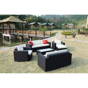 salon jardin en resine tressee 8 place achat vente salon jardin en resine tressee 8 place. Black Bedroom Furniture Sets. Home Design Ideas