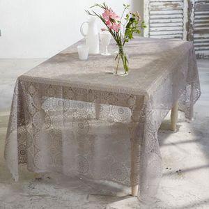 CHEMIN DE TABLE PureDay Nappe en vinyl façon dentelle au crochet 1