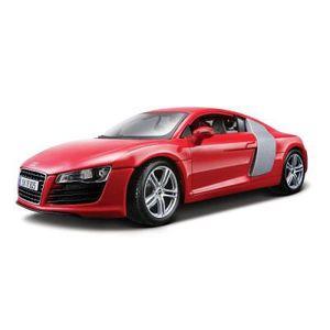 VOITURE À CONSTRUIRE Modèle réduit - Audi R8 - Echelle 1/18 : Rouge