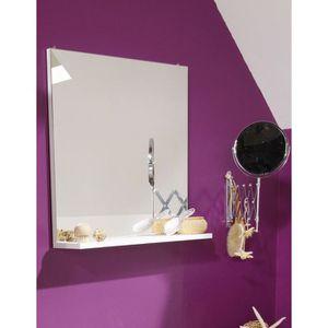 miroir salle de bain slash miroir de salle de bain l 60 cm blanc - Tablette Salle De Bain Blanche