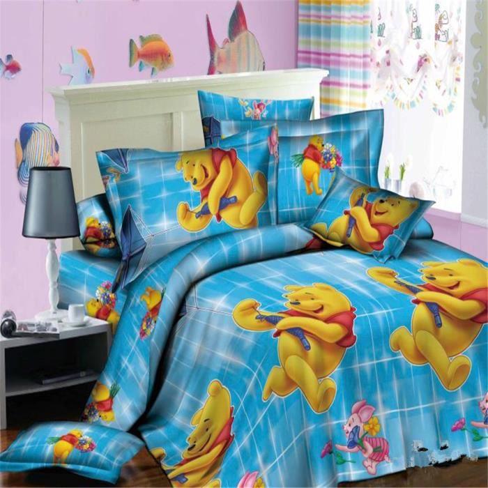 l m disney winnie l 39 ourson parure de couette parure de lit 1 housse de couette220x 240 cm 2. Black Bedroom Furniture Sets. Home Design Ideas