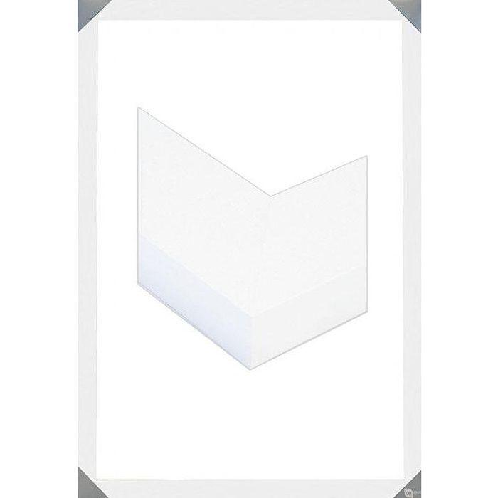 cadre en bois blanc 61 x achat vente cadre photo bois cdiscount. Black Bedroom Furniture Sets. Home Design Ideas