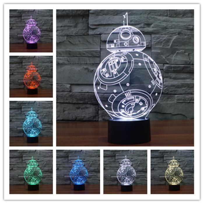 ebuy lampe veilleuse 3d star wars lampe led usb pour. Black Bedroom Furniture Sets. Home Design Ideas