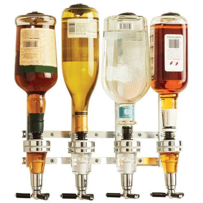 excelvan distributeur de bouteilles pivotant avec 4 becs verseurs doseurs support de bar pour. Black Bedroom Furniture Sets. Home Design Ideas