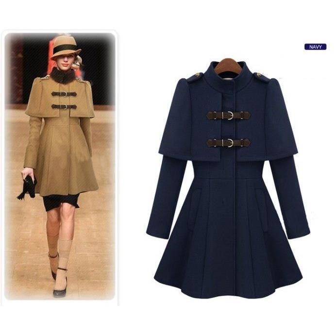 Manteau/Veste/Cape/Châle Femme En Laine A Line Emilie Vogue Taille 34