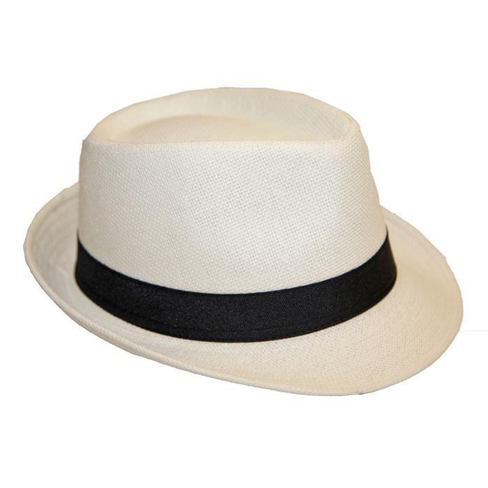 chapeau panama blanc achat vente chapeau panama blanc pas cher cdiscount. Black Bedroom Furniture Sets. Home Design Ideas