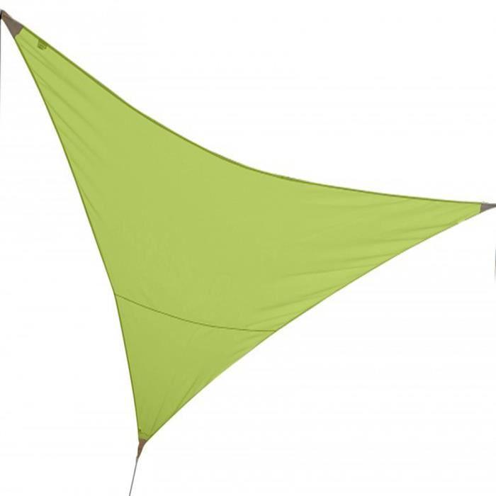 Voile d 39 ombrage triangulaire vert pomme en polyester 140g m anti uv 3 x 3 x 3 m avec kit de - Tonnelle de jardin vert pomme ...