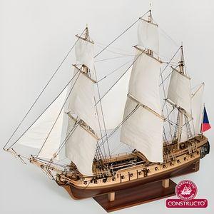 MAQUETTE DE BATEAU Maquette bateau en bois : La Flore