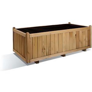bac a fleur en bois rectangulaire achat vente bac a fleur en bois rectangulaire pas cher. Black Bedroom Furniture Sets. Home Design Ideas
