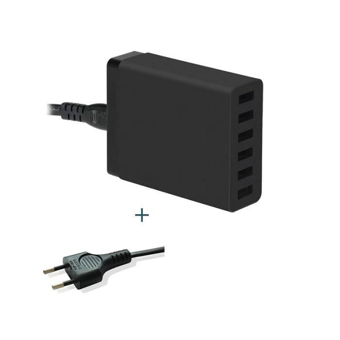 Chargeur adaptateur mural ports multi usb chargeur for Chargeur mural usb
