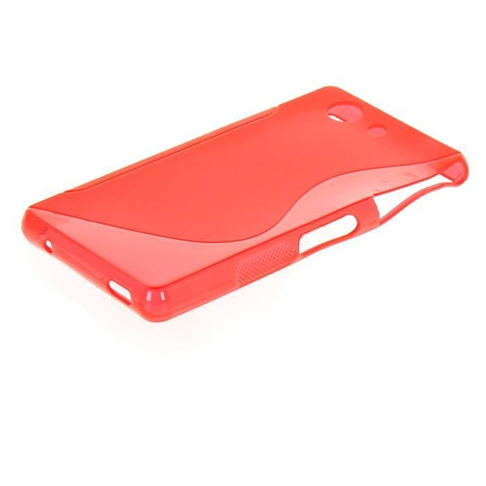 Tpu housse coque etui sony xperia z3 compact rouge achat for Housse xperia x compact