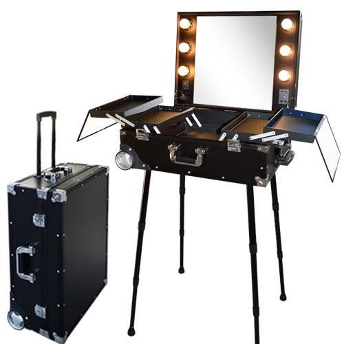 Valise studio make up trolley table de maquillage for Service table pas cher