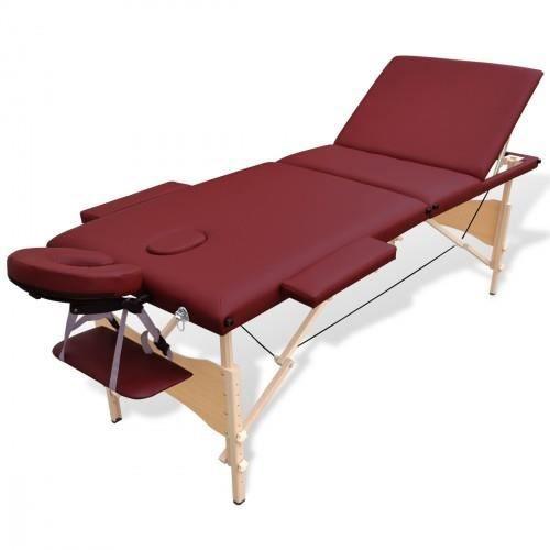 table de massage pliante en bois 3 zones rouge achat. Black Bedroom Furniture Sets. Home Design Ideas