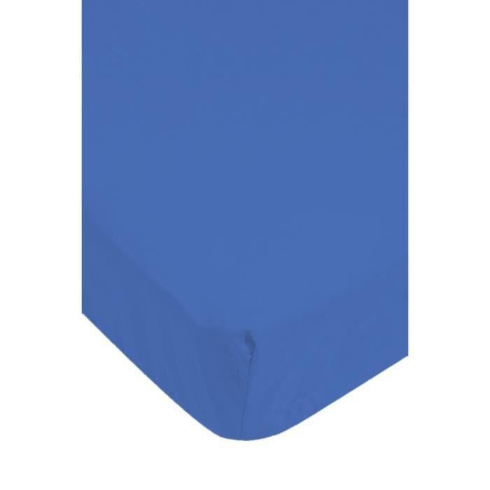 drap housse jersey bleu marine achat vente drap housse cdiscount. Black Bedroom Furniture Sets. Home Design Ideas